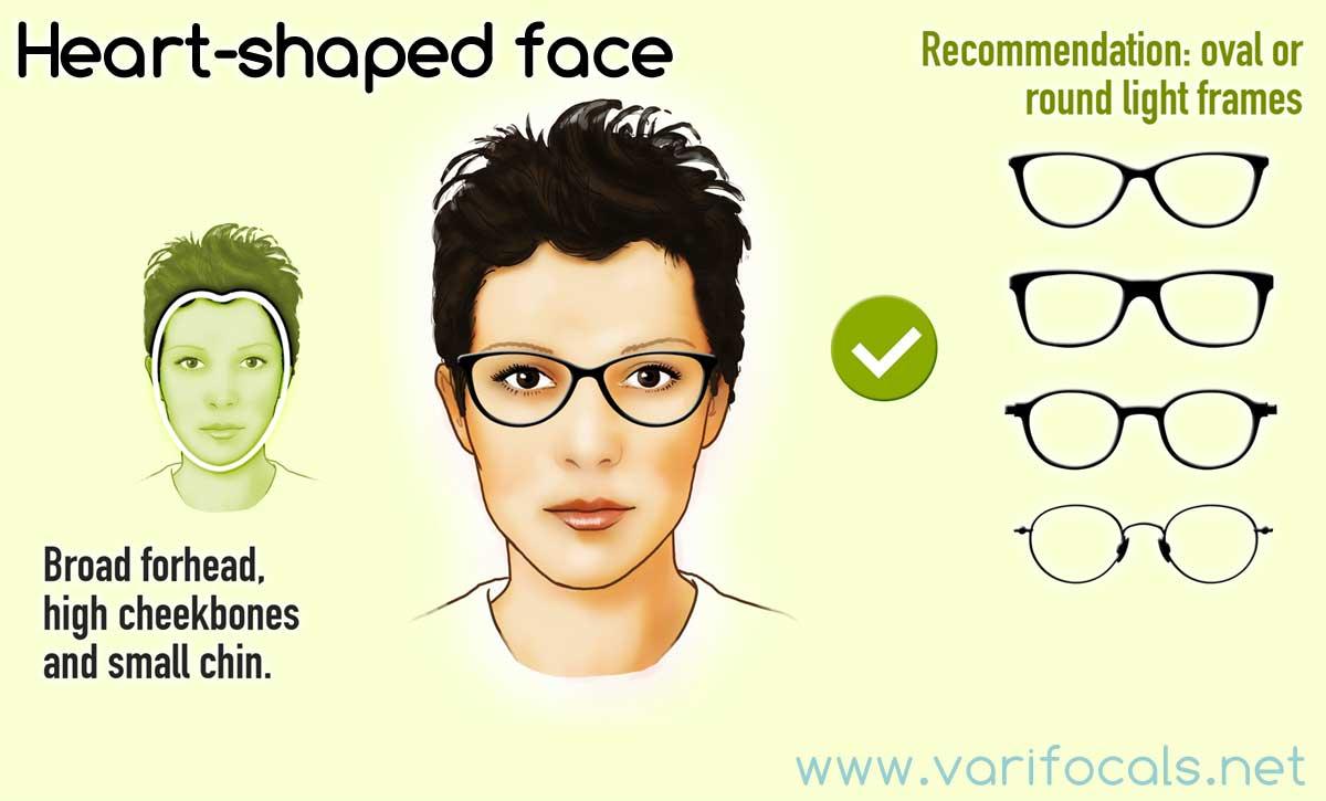 Glasses Frames For A Heart Shaped Face Female