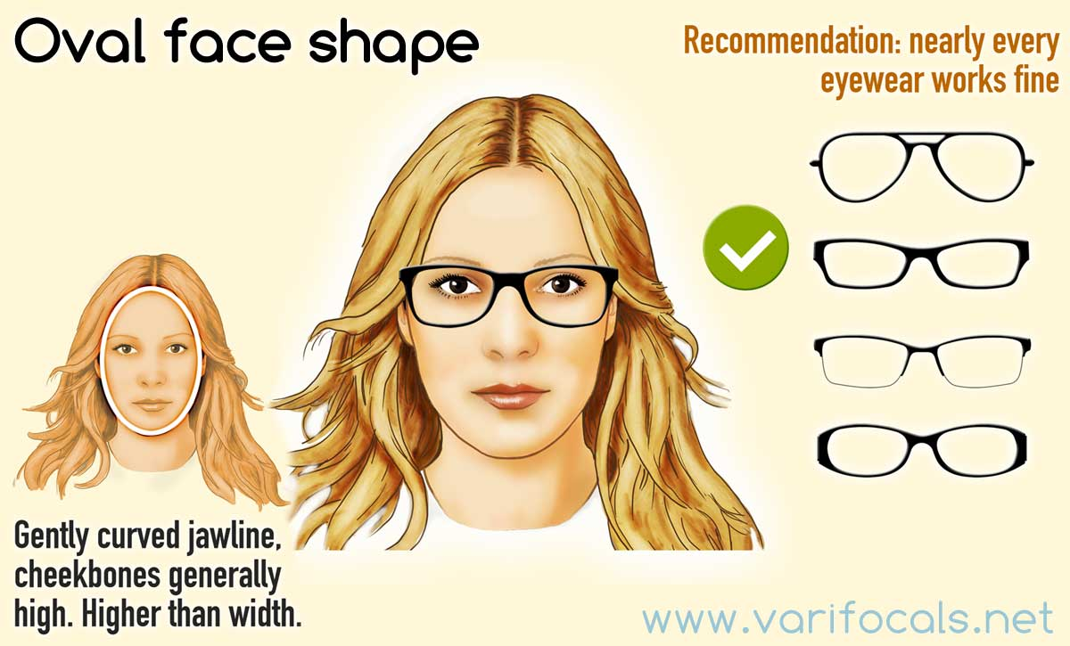 0badcfb9f83 Glasses frames for an oval face shape (female)