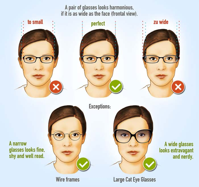 55c9115b745 Glasses frames for woman - Face shape Guide